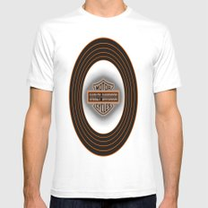Only in America White Mens Fitted Tee MEDIUM