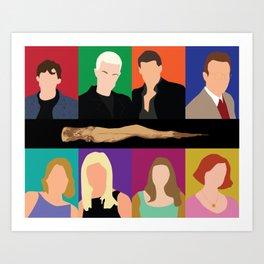 Buffy the vampire slayer characters Art Print