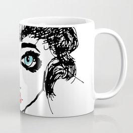 The girl with the blue eyes Coffee Mug