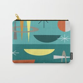 Turquoise Mid Century Modern Carry-All Pouch