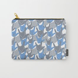 ASL I LOVE YOU HEARTS BLUE Carry-All Pouch