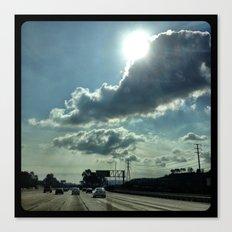 Admiring the clouds. Canvas Print