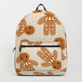 SWEATER PATTERN GINGERBREAD COOKIE Backpack
