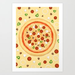 Just Pizza Art Print