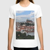 prague T-shirts featuring Prague CityScape by Andrew Schmidt