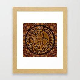 Medieval Seal of the Knights Templar Framed Art Print