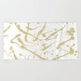 Gold drops Beach Towel