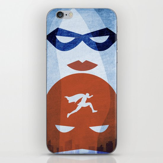 Nightly patrol Superheroes SF iPhone & iPod Skin