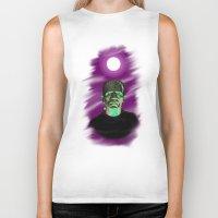 frankenstein Biker Tanks featuring Frankenstein  by JT Digital Art