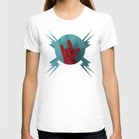 heavy metal T-shirts featuring Heavy Metal Oven Mitt by John Magnet Bell