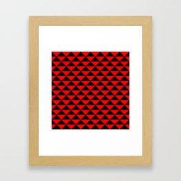 schwarz rot Framed Art Print