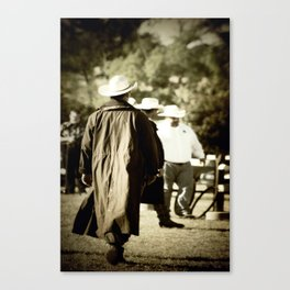 Trenchcoat Cowboy Canvas Print