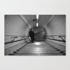 Empty London Underground stairs Canvas Print