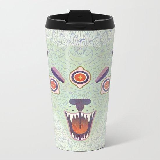 Cosmic Cat Metal Travel Mug