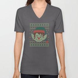 Elf Christmas Santa Hat Elves Gift X-Mas Unisex V-Neck