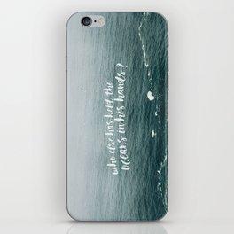 HELD THE OCEANS? iPhone Skin