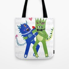 monster tango. Tote Bag