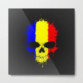 Romanian skull Metal Print