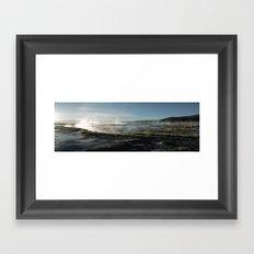 Natural spas Framed Art Print