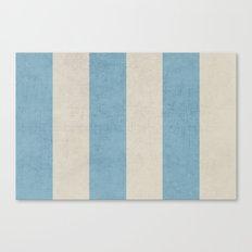 vintage light blue stripes Canvas Print