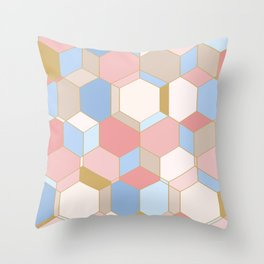 HEXROSE Throw Pillow