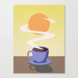 Coffee Sun Canvas Print