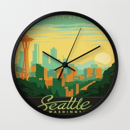 Vintage poster - Seattle Wall Clock