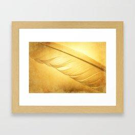 Textured Feather Framed Art Print