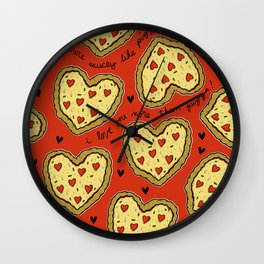 I Love You More Than Pizza on REPEAT -- AKA RE-PEATZAAA Wall Clock
