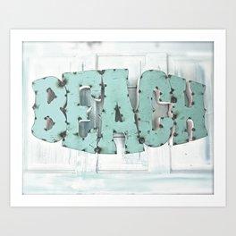 Rustic Beach Art Print