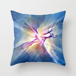 Galactic Light Abstract Art Throw Pillow