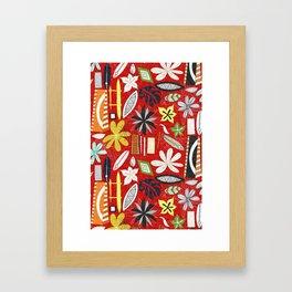 beachy red Framed Art Print
