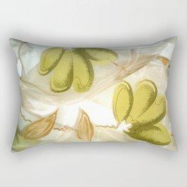 textile / flower / green  Rectangular Pillow