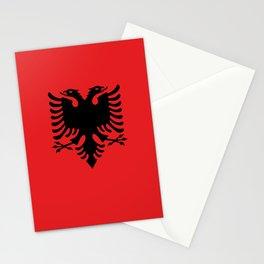 Albanian Flag - Hight Quality image Stationery Cards