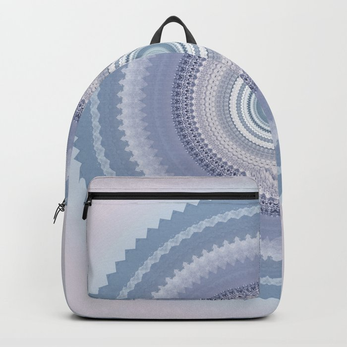 Inspirational Mandala in soft pastel colors of blue and lilac Backpack