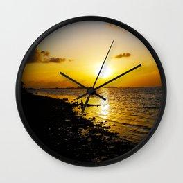 Seashore Serenity at Sunset Wall Clock