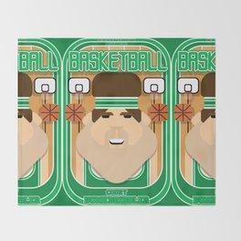 Basketball Green - Court Dunkdribbler - Bob version Throw Blanket