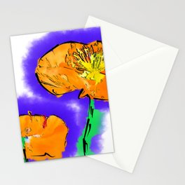 The Orange Poppy Pair Stationery Cards