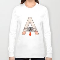 "eugenia loli Long Sleeve T-shirts featuring a to z - ""A"" by cardboardcities"