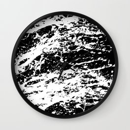 Black and White Paint Splatter Wall Clock
