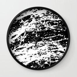 Black and White Paint Splatter Wall Clock