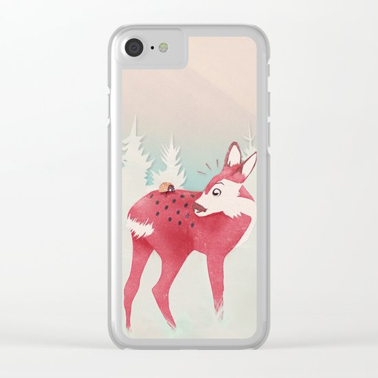 Oh deer, what the bug?! Clear iPhone Case