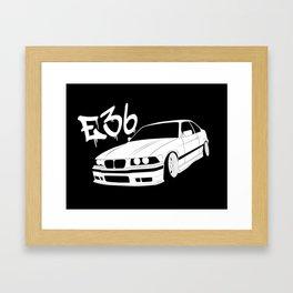 BIMMER E36 Framed Art Print
