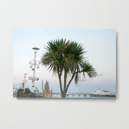 Tropical vibes on a colonial pier | Travel photography Eastbourne, England - Great Britain Metal Print