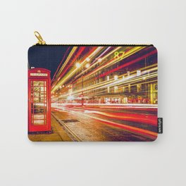 London Phone Booth Long Exposure Carry-All Pouch