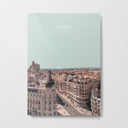 Madrid, Spain Travel Artwork Metal Print