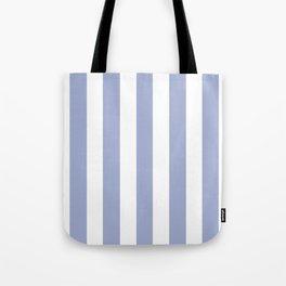 Wild blue yonder - solid color - white vertical lines pattern Tote Bag