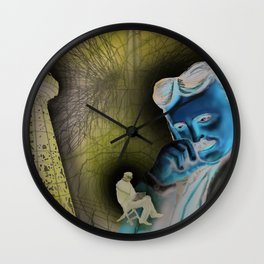 """""""(Tesla) A Man out of Time"""" Wall Clock"""