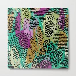Colorful Animal Print Metal Print