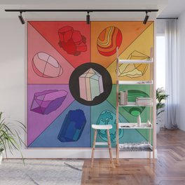 Crystal Color Wheel Wall Mural